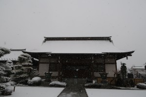 成就院本堂(雪)